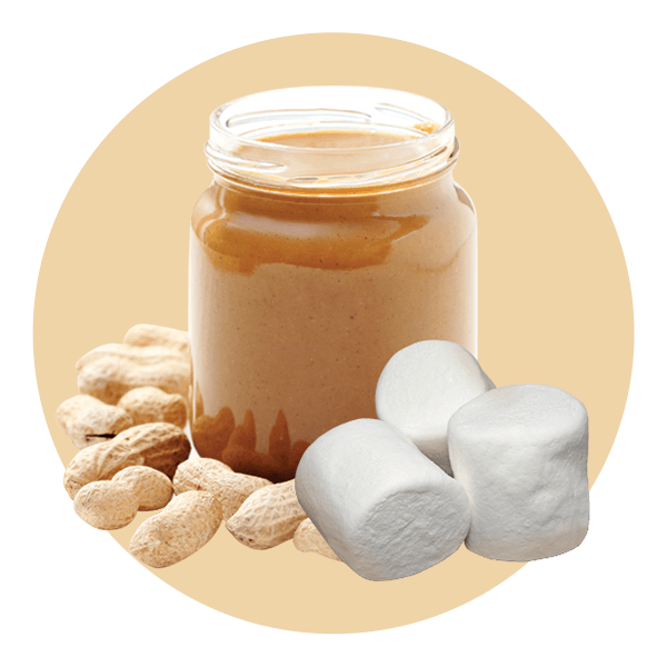 Cream Ice Marshmallow Peanut Butter