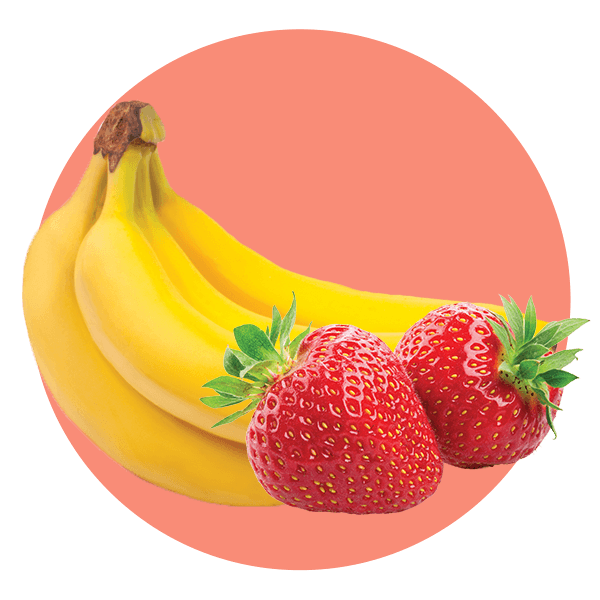 Custard Strawberry Banana