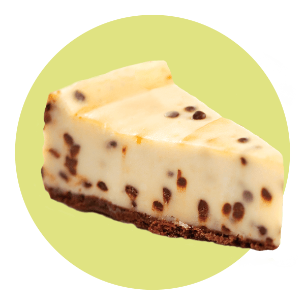 Hand Scooped Chocolate Chip Cheesecake
