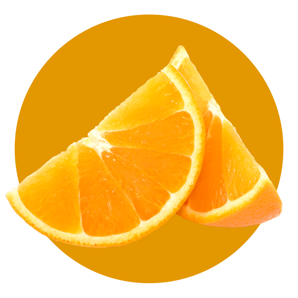 Hand Scooped Orange