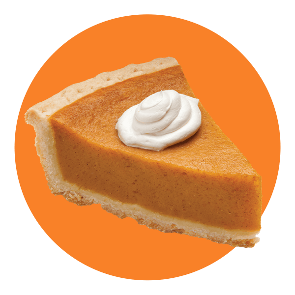 Hand Scooped Pumpkin Pie