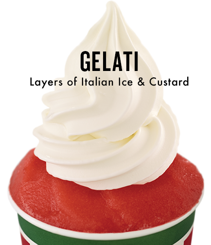 Gelati - Layers of Italian Ice & Custard